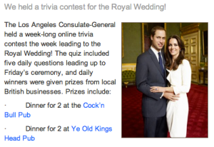 Royal Wedding Contest